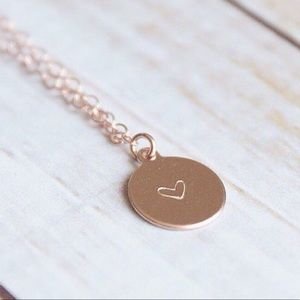 Rose Gold Circle Necklace | Minimalist Jewelry